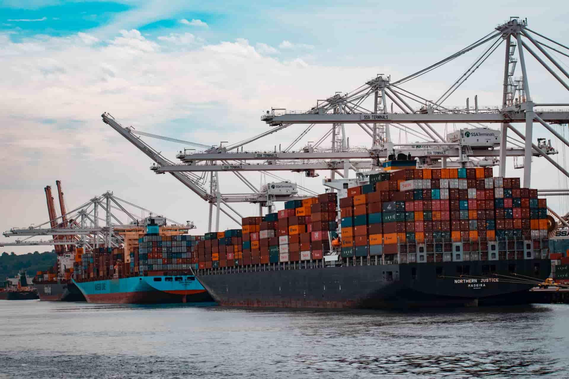 Logistics Container Ship
